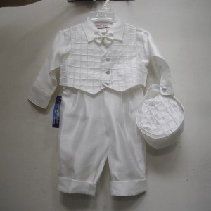 Boys Baptism Checked Vest Set