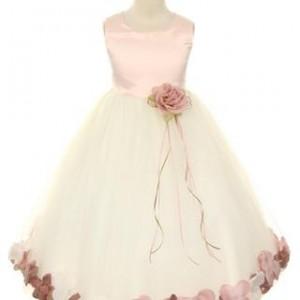 satin top petal dress