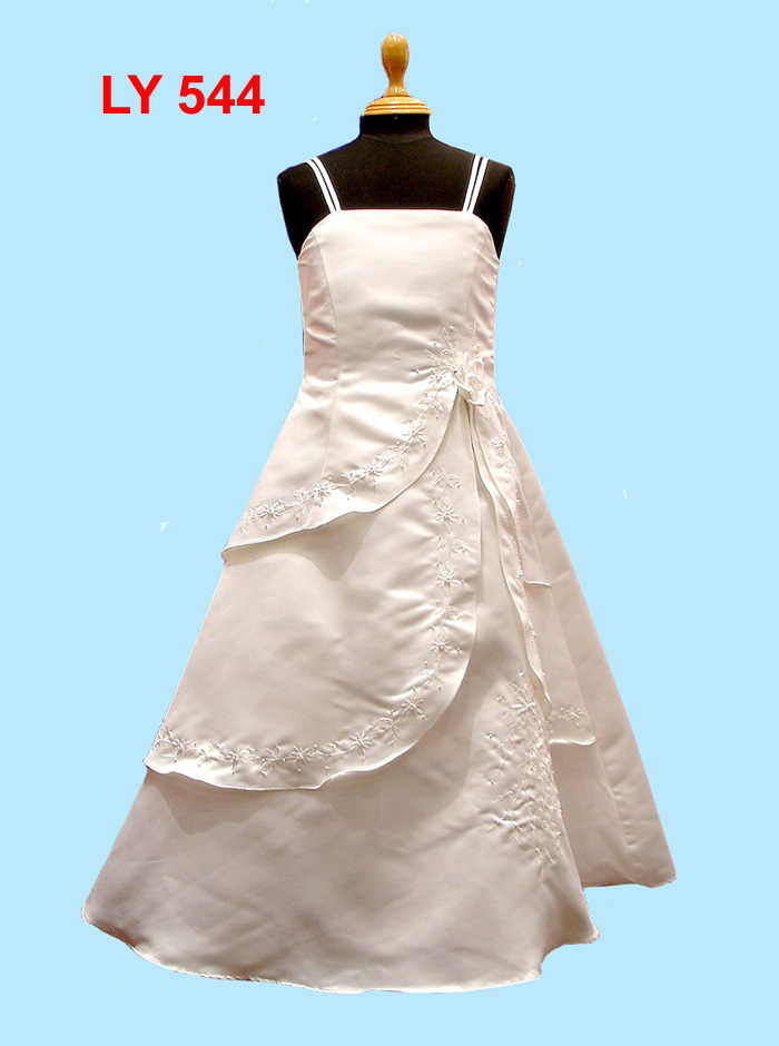 embroidered communion gown