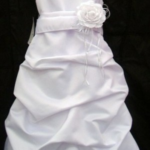 Satin Pickup flower girl dress