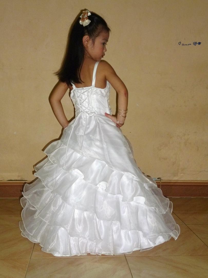 01fd3ac73 Flamingo Girls Long Gown - White or Ivory - Grandma s Little Darlings