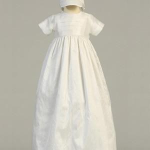 unisex silk baptism gown