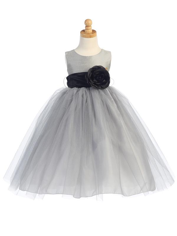 b81cffe183b Tutu Dress Flower Girl - Silver - Grandma s Little Darlings