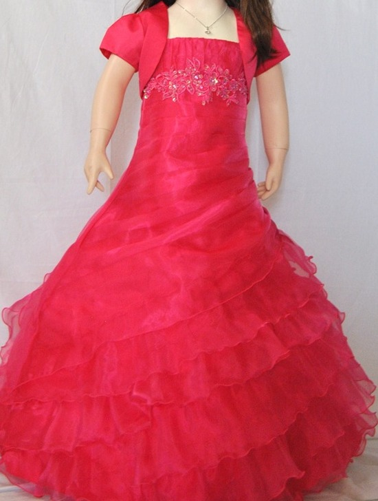 a368c3175 Flamingo Girls Long Gown - Fuchsia - Grandma s Little Darlings