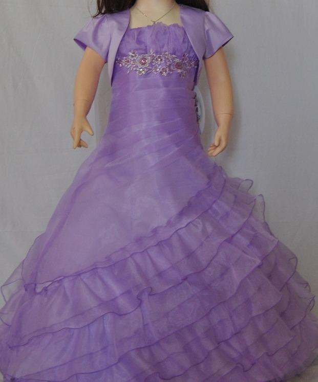 bb0b4d454 Flamingo Girls Long Gown - Lilac - Grandma s Little Darlings