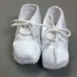 boys satin baptism shoe