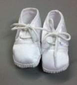boys satin baptism shoe