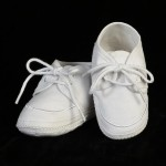 cotton baptism shoe