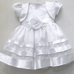 Satin Baby Girls Dress And Bolero
