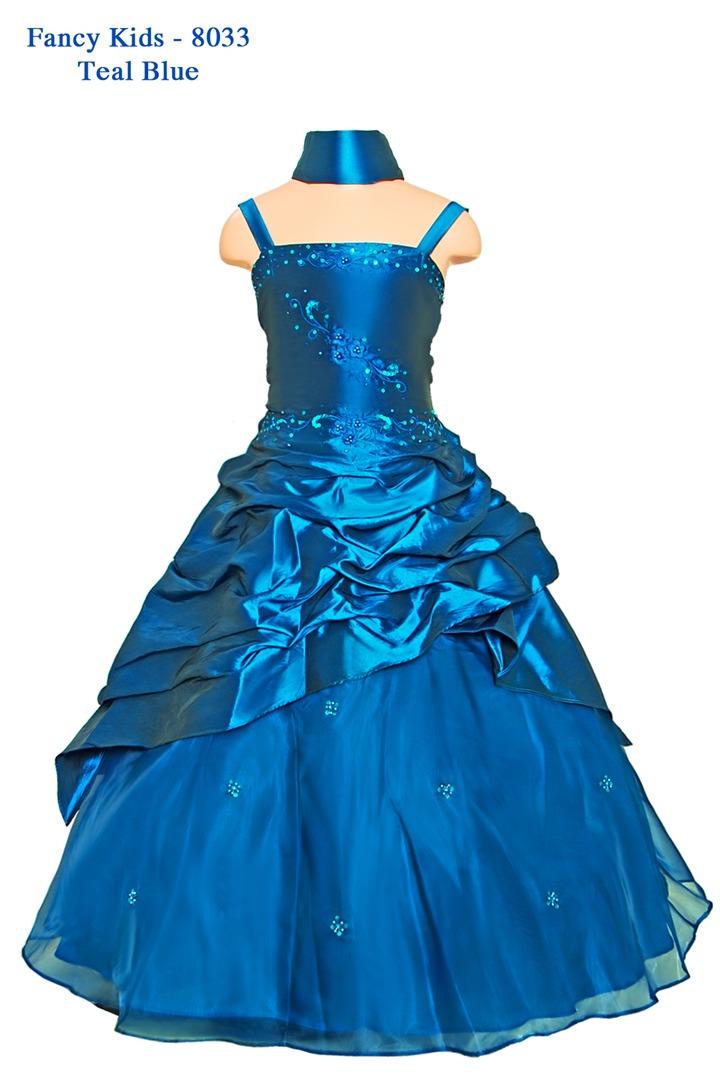 e7d01e71a3 Girls Ball Gown Teal Blue - Grandma s Little Darlings