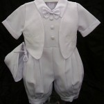 Affordable Boys Short Baptism Romper
