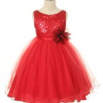 glitzy sequined and tulle dress