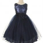 glitzy sequined tulle dress