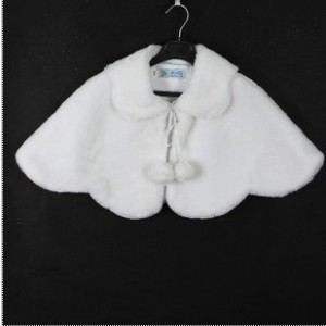 Faux Fur Cape White or Ivory