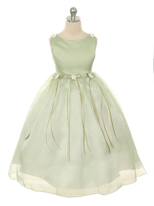 5c443f8ea76 Rosebud Girls Dress - Sage - Grandma s Little Darlings