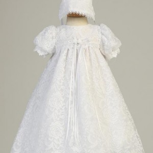 lace girls baptism gown