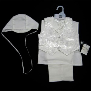Boys Satin Christening Vest Set