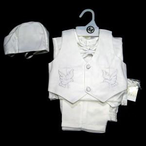Boys Satin Baptism Vest Set