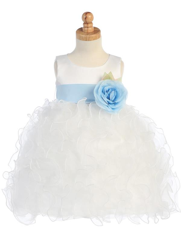 5a2f2fbaf91 Ruffled Organza Flower Girl Dress - White - Grandma s Little Darlings