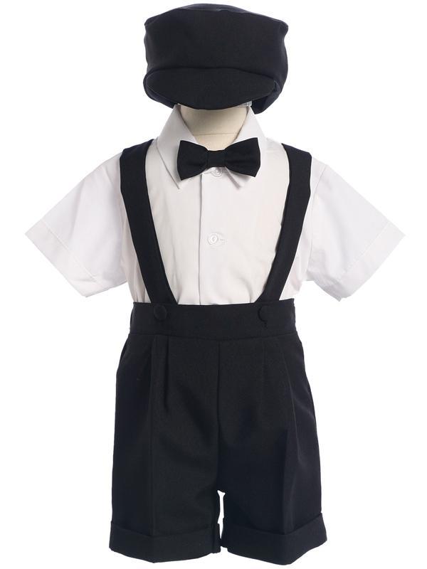 5768e3e0d Boys Suspender Shorts   Hat Set – Black. Sale! suspender shorts
