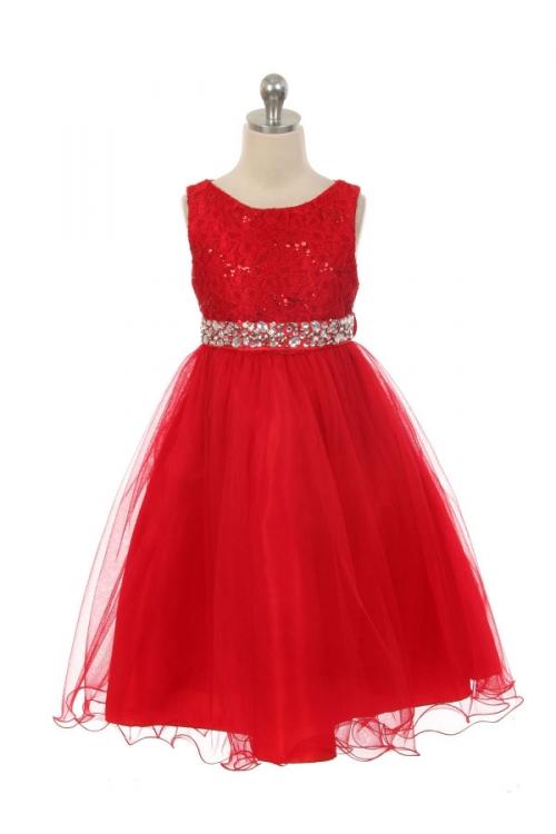 2b731ee0f Glamour Girl Dress Rhinestone Belt – Red. Sale! glamour girl flower girl