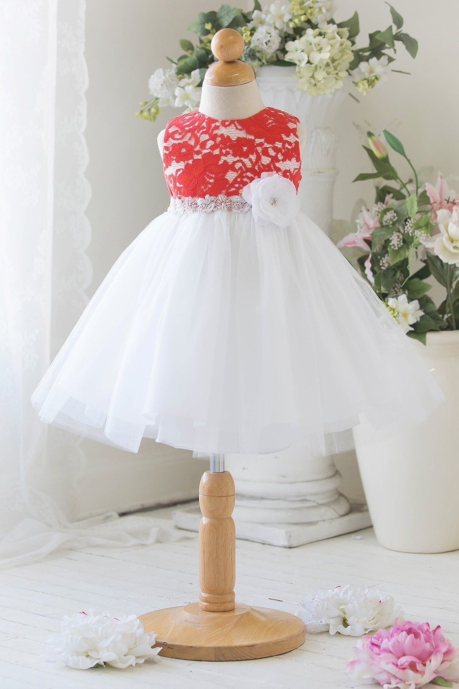 Sweetness tulle lace baby dress red grandmas little darlings tulle lace baby dress ombrellifo Gallery