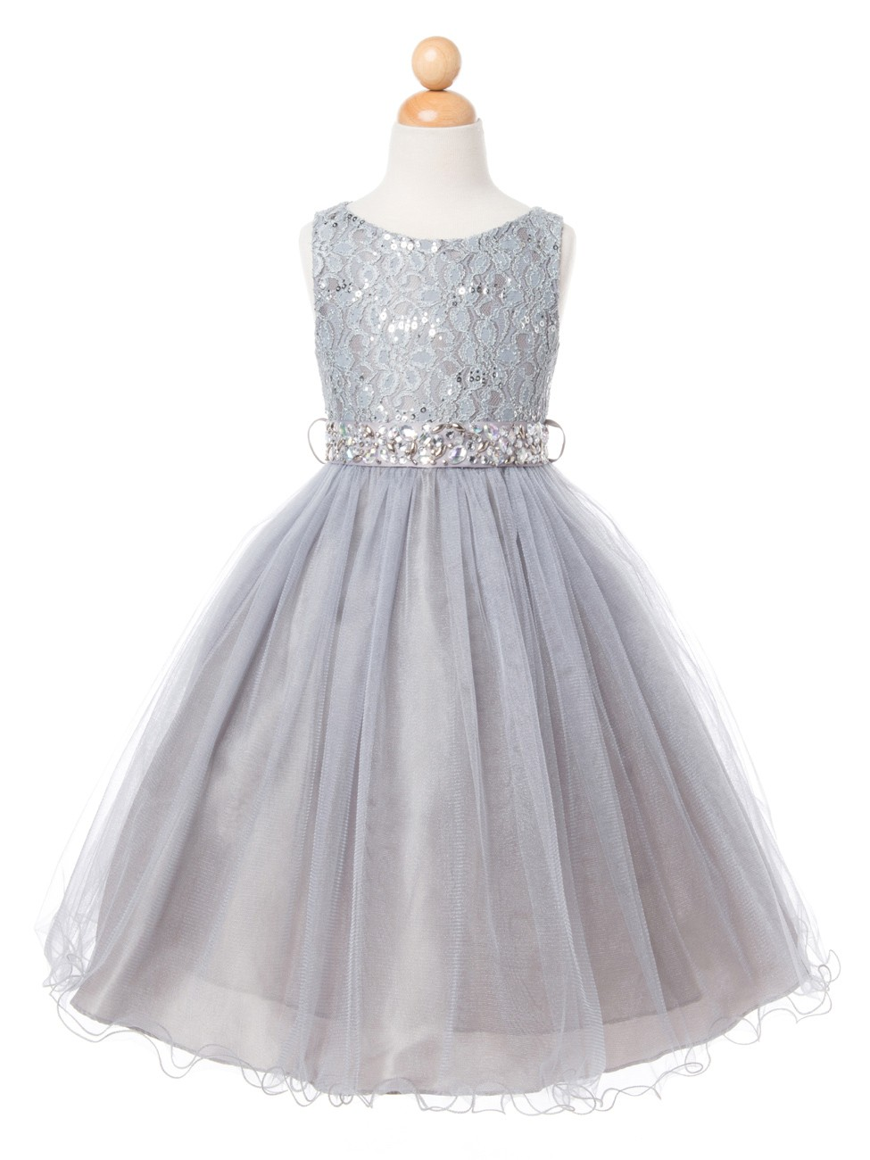 silver rosaleen girls tulle arabella product sequin dress rosaleensilverdress rose