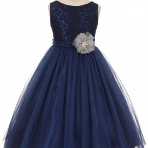 Pearl Cluster Girls Dress