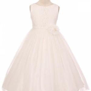 Pearl Cluster Girls Dress