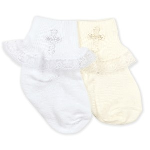 cotton baptism sock