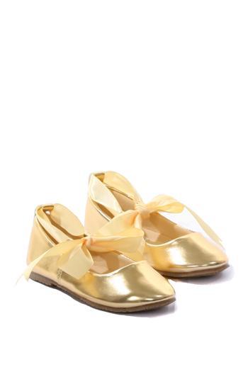35fe88d8b6ac Girls Ballerina Shoe With Ribbon Tie - White - Grandma s Little Darlings
