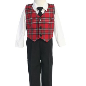 Plaid Boys Vest Set boys plaid vest set