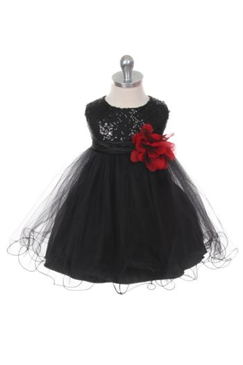 0bd7c525 Glitzy Sequined Tulle Baby Dress Girls Dress
