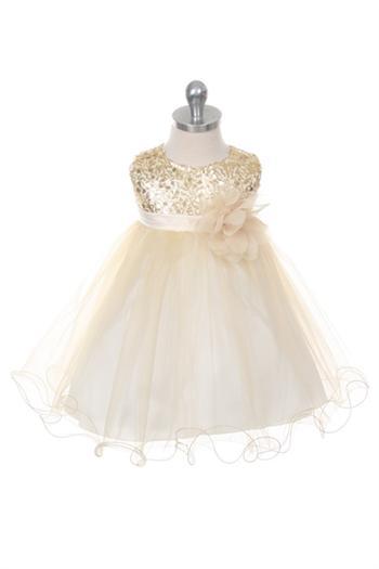 adb2f564fcec Glitzy Sequined Tulle Baby Dress Girls Dress
