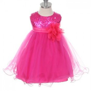sequined tulle baby dress