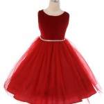 Velvet & Tulle Girls Holiday Dress