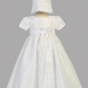 Short Sleeve Baptism Gown