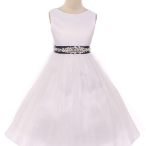 crystal belt girls dress