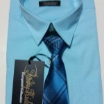 Boys Long Sleeve Dress Shirt & Tie