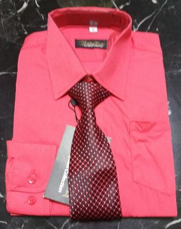 great variety styles most popular outlet store sale Boys Long Sleeve Dress Shirt & Tie - Coral - Grandma's Little Darlings