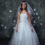 Appliqué Illusion First Communion Dress