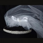 First Communion Veil Elegant princess crown