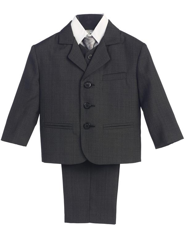 49ad04e815002 Three Button Boys Suit Husky Fit - Dark Gray - Grandma s Little Darlings