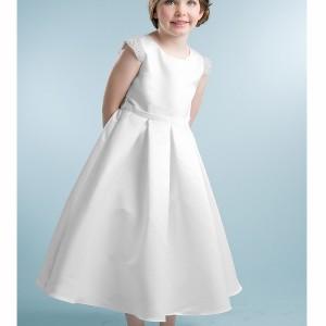 Beaded Cap Sleeve First Communion Dress