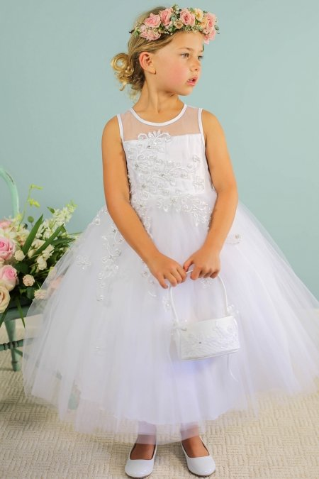 a21ebbb4d Peekaboo Scattered Floral Flower Girl Dress -Ivory - Grandma's ...
