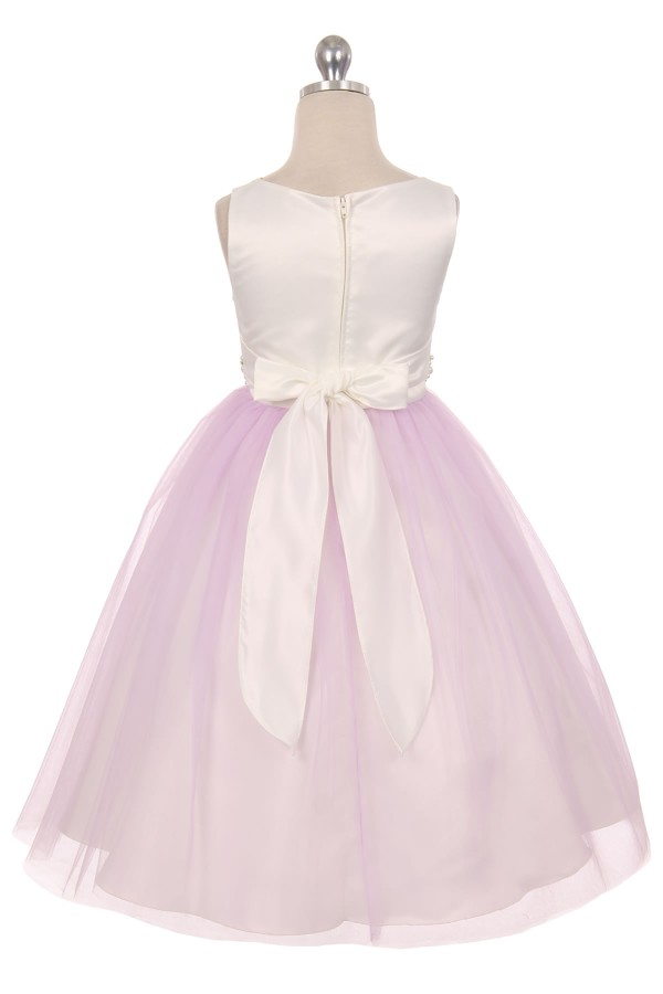 31ad85c5c A Elegant Diamond & Pearl Waist Girls Flower Girl Dress ♥ - Blush ...