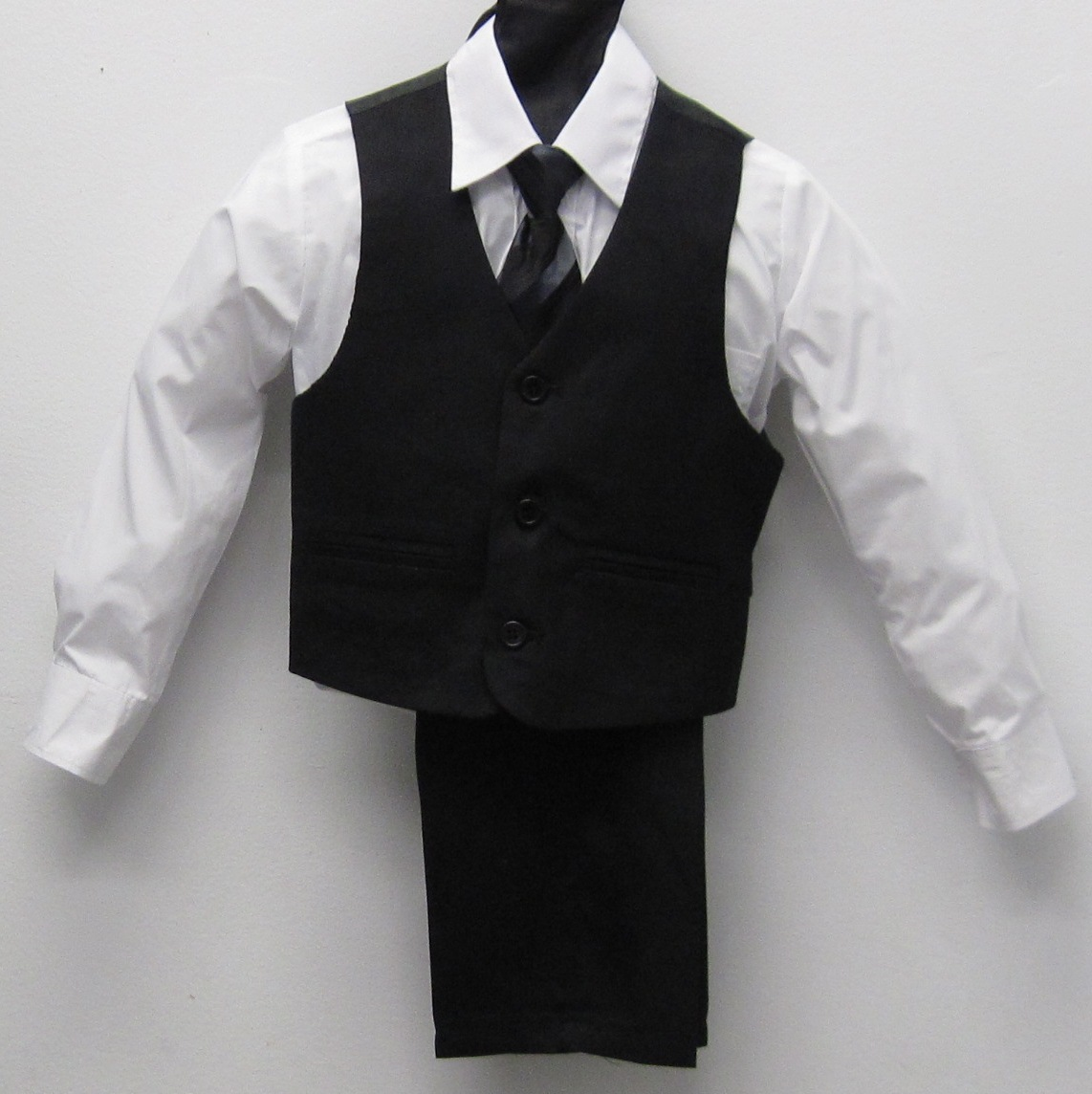 Affordable Boys Classic Vest Set - Black With White Shirt ...