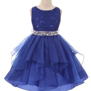 girls dress with rhinestone belt