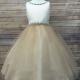 Braided Crystal Belt & Neckline Girls Dress