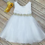 crystal belt baby girls dress